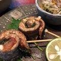 秋刀魚の梅シソ巻き