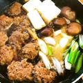 ミニハンバーグで すき焼き風 和な鍋
