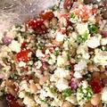 手作りカッテージチーズの豆サラダ