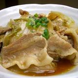 白菜と豚バラ肉のうま煮