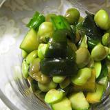 枝豆とわかめときゅうりのマリネ