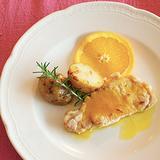 豚ロースのオレンジバター風味 ジャガイモ添え