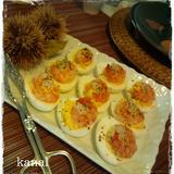 ゆで卵の黄身ディップ