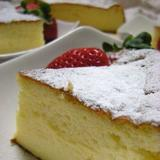 メレンゲでしっとり軽い「スフレチーズケーキ」