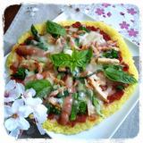 『旨っカレー米』春野菜のライスピザ