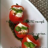 プチトマトのカプレーゼ マスカルポーネのファルシ