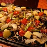 鯵とたっぷり野菜のオーブン焼き