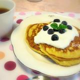 米粉・黒糖配合のヨーグルトパンケーキのレシピ