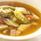 キムチと夏野菜のスープ