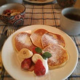 モチモチ~♪米粉のパンケーキ