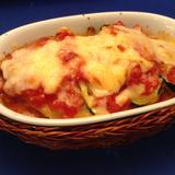 ズッキーニとトマトのグラタン