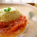 濃厚クリーム豆腐とシャリシャリトマトのすり流し