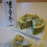抹茶と栗の切株ケーキ
