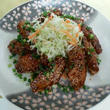 鶏手羽の素揚げ メープル味噌醤油