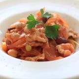 塩麹豚のトマトパスタ