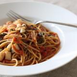 穴子のプッタネスカ スパゲッティーニ