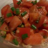 サーモンとトマトの夏マリネ
