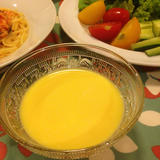 甘さにびっくり、トウモロコシの冷たいスープ