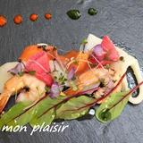 魚介のスパイスオイル煮 サラダ仕立て