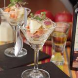 りんごと根菜のカクテルサラダ 白バルサミコ風味