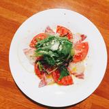 真鯛とトマトのカルパッチョ