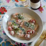 鮭の味噌クリーム煮
