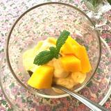 冷凍マンゴーのジェラート