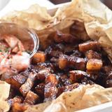 漬けて焼くだけ☺︎少し甘めのコロコロ焼き豚🐷