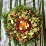 白花豆のNYコブサラダ