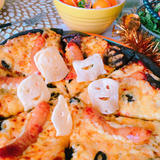 ハロウィンのおばけピザ