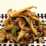 豚肉と舞茸のピリ辛炒め