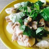 長芋と豚肉の昆布茶炒め