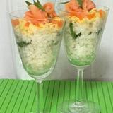 しょうがみりんを使ったグラス寿司