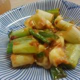 生姜みりん味噌チーズ炒め