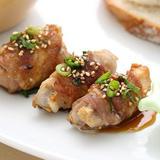 里芋の豚肉巻き甘辛生姜焼き