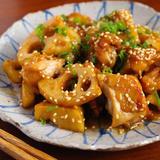 鶏とレンコンの生姜焼き