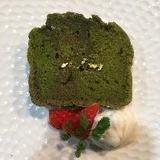 豆腐でしっとり濃い抹茶のケーキ