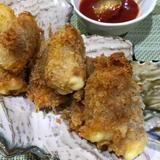 筍とチーズの生ハム巻きフライ