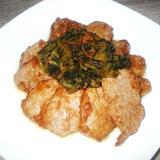 豚肉と広島菜漬けの甘辛焼き