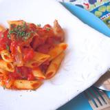 塩豚とトマトのパスタ