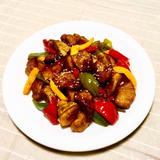 彩り野菜の黒酢pork♪