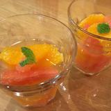 グレープフルーツとオレンジの白ワインコンポート
