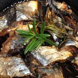 スキレット鍋で秋刀魚丸ごとオイル焼き