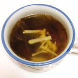 モズクの生姜スープ