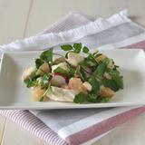 サラダチキンとクレソンのグレープフルーツソース