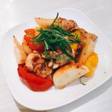 タイ風鶏肉とカブの炒め物