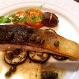 鮭のムニエルケッパーソース