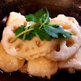 餅とレンコン天ぷらあんかけ雑煮