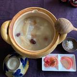 鶏手羽先と長芋の中華粥〜梅干し風味〜