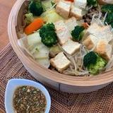 蒸し野菜と自家製タレ